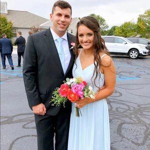Most blue Azazie bridesmaid's dress